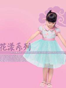 汪小荷绿色公主裙
