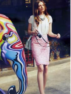 伊芙嘉2015夏季新品包臀裙