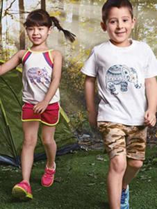 探路者童裝新款夏裝T恤