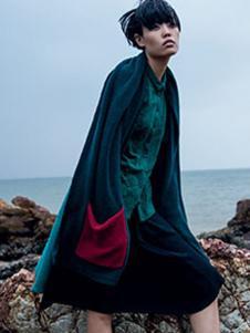 因为ZOLLE女装2015新品休闲蓝色裙子