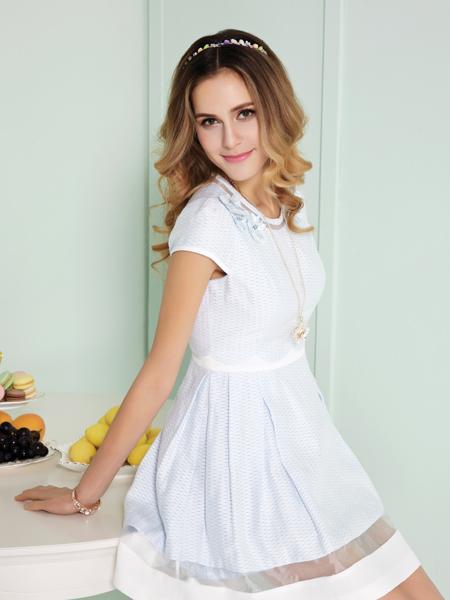 迪奥女装新款白色连衣裙