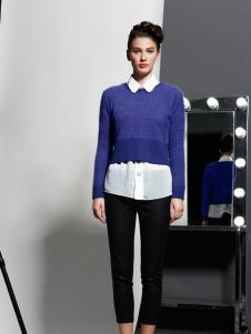 艾露伊蓝色毛衣