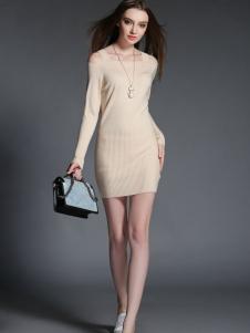 2015卡芭芭丽秋装针织连衣裙