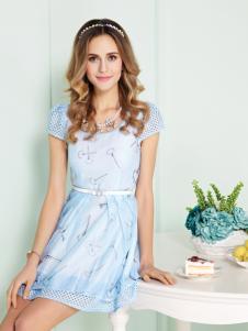 迪奥女装新款蓝色小短裙