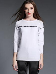 2015卡芭芭丽白色针织衫