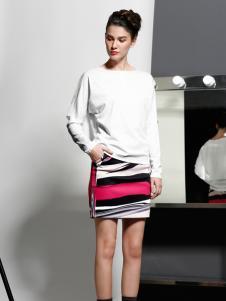 艾露伊白色裙子