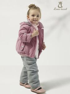 路易迪高女小童冬装新款上衣