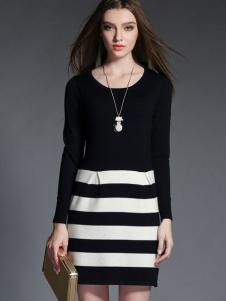 2015卡芭芭丽长袖针织连衣裙