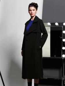 艾露伊黑色长款大衣