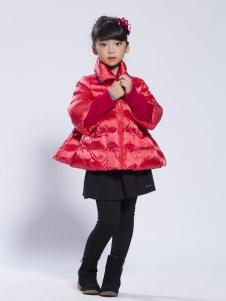 缤果童装2015A字形冬装羽绒服