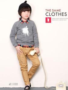 兔子杰罗中童装秋季针织衫