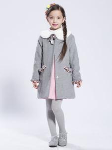 缤果童装2015女童毛呢大衣