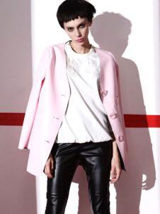 玛诗可服饰2015粉色秋冬外套