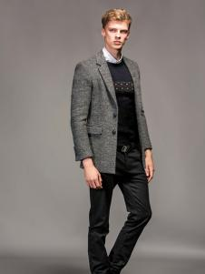 1943S男装秋冬新款灰色外套