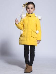 benko缤果童装2015黄色羽绒服