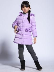 缤果童装2015紫色羽绒服