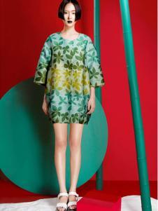 台绣(T-YSKJ)女装2015秋季绿色裙子