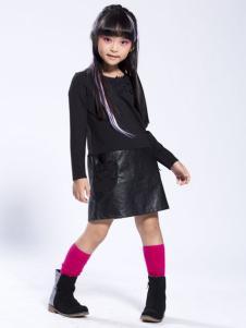 缤果童装2015黑色女童T恤