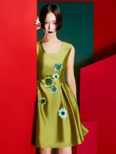 台绣(T-YSKJ)女装2015秋季无袖刺绣裙子