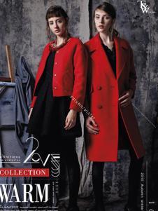 T&W女装新款红色外套