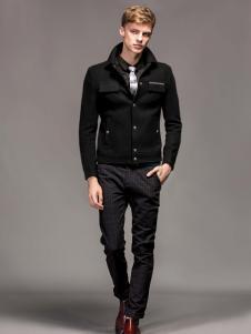 1943S男装秋冬新款黑色外套