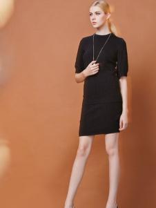 FULLTEAM黑色连衣裙
