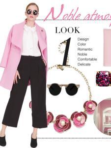 璱妠女装新款粉色外套
