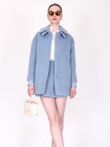 璱妠女装蓝色新款外套