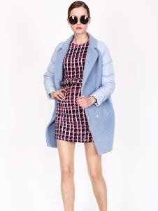 璱妠女装新款蓝色外套