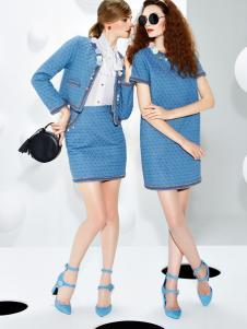 璱妠女装新款蓝色套装