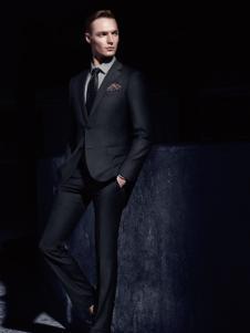 杉杉男装商务休闲黑色西服外套