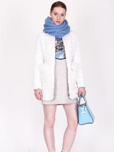 璱妠女装新款白色外套