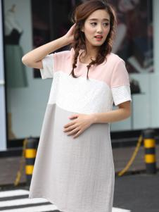 贝儿森时尚拼接孕妇装