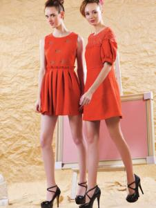 DANTISY红色连衣裙