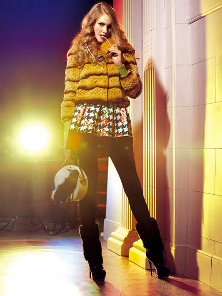 卡缇女装冬季新款皮草外套
