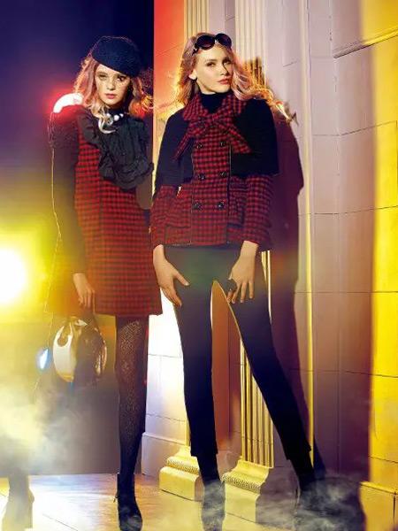 卡缇女装冬季新款红色两件套