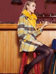 耶丽雅折扣女装新款格子外套