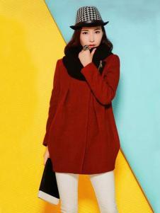 耶丽雅冬季新款红色女装