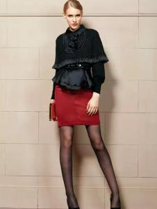卡缇女装冬季新款黑色短款外套