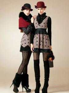 卡缇女装新款连衣裙两件套