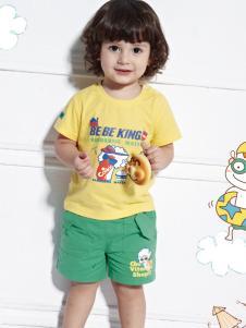 皇儿童装2016新款男小童黄色T恤