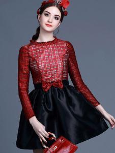 珊版丽复古连衣裙