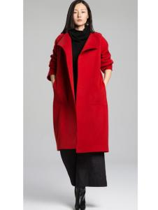 KENNY女装2016新款红色大衣