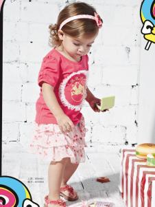皇儿童装2016夏季女小童T恤