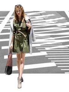 KENNY女装绿色时尚衬衫裙