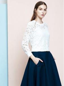 ELLE女装白色连衣裙套装