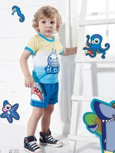 皇儿童装夏季新款印花T恤