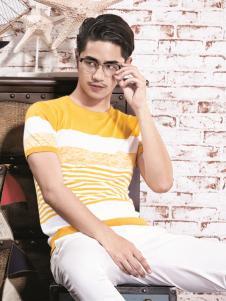 1943s男装新款黄色T恤