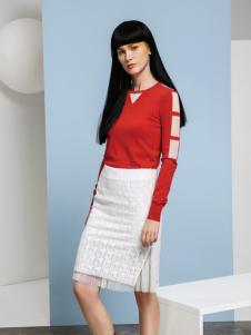 艾露伊白色蕾丝裙