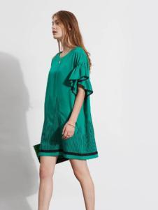 芮玛女装2016夏季新款绿色裙子